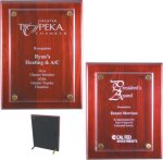 Rosewood Piano Finish Floating Plaque Acrylic Plaques     as low as $18.20