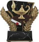 Lamp of Knowledge - Midnight Wreath Resin Trophy All Trophy Awards