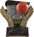 Basketball - Midnight Wreath Resin Trophy Basketball Trophy Awards