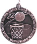 Basketball - Shooting Star Medallion Basketball Trophy Awards