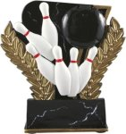 Bowling - Midnight Wreath Resin Trophy Bowling Trophy Awards