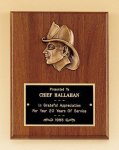 Fireman Award with Antique Bronze Finish Casting. Cast Relief Plaques as low as $22.40