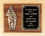 Fireman Plaque with Antique Bronze Finish Casting. Cast Relief Plaques as low as $22.40