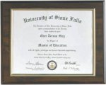 Slide in Certificate Frame with Gold Border Certificate Plaques as low as $11.55