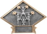Cheerleading - Diamond Plate Resin Trophy Cheerleading Awards