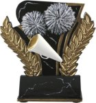 Cheerleading - Midnight Wreath Resin Trophy Cheerleading Awards