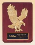 Rosewood Piano Finish Plaque with Gold Eagle Casting Eagle Plaques as low as $23.10