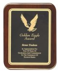 Rosewood Piano Finish Plaque Rounded Eagle Plaques as low as $23.10