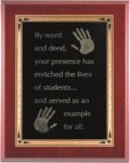 High Gloss Mahogany Finish Plaques Economy Plaques  as low as $7.70