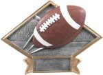 Football - Diamond Plate Resin Trophy Football Awards