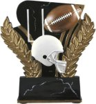 Football - Midnight Wreath Resin Trophy Football Awards