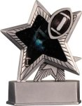 Football - Silver Star Motion Series Resin Football Awards