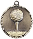 High Relief Medallion - Golf High Relief Medallion Awards