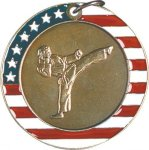 Karate - Stars & Stripes Medallion Karate Trophy Awards