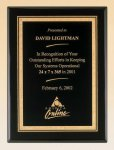 Black Piano Finish Plaque with Brass Plate Mid Price Plaques    as low as $11.55