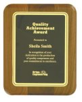 Genuine Walnut Elliptical Plaque with Rounded Corners Mid Price Plaques    as low as $11.55
