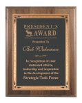 Genuine Walnut Plaque with Brass Plate Mid Price Plaques    as low as $11.55