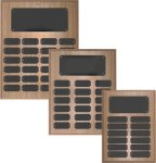 Oak Finish Perpetual Plaque Monthly Perpetual Plaques