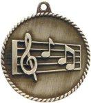 High Relief Medallion - Music Music Trophy Awards