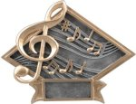 Music - Diamond Plate Resin Trophy Music Trophy Awards