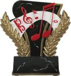 Music - Midnight Wreath Resin Trophy Music Trophy Awards