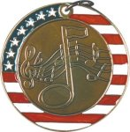 Music - Stars & Stripes Medallion Music Trophy Awards