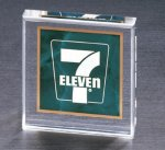 Emerald Marble Square Acrylic Paperweight Paperweights