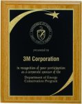 Oak Finish Plaque With Brass Plate Patriotic Awards