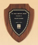 American Walnut Shield Plaque with a Black Brass Plate Shield Plaques as low as $22.40