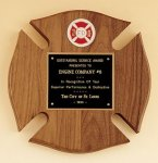 Maltese Cross Fireman Award Shield Plaques as low as $22.40