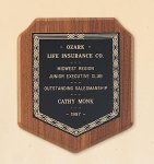American Walnut Shield Plaque with a Black Brass Plate. Shield Plaques as low as $22.40
