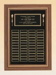 American Walnut Frame Perpetual Plaque Small and Medium Perpetual Plaques