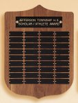 American Walnut Shield Perpetual Plaque Small and Medium Perpetual Plaques