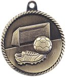 High Relief Medallion - Soccer Soccer Awards