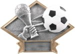 Soccer - Diamond Plate Resin Trophy Soccer Awards