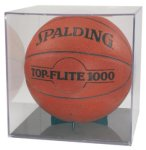 Acrylic Display Case with Black Base Sport Ball Holders