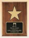 American Walnut Plaque with 5 Gold Star Star Plaques as low as $30.10
