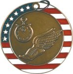 Track - Stars & Stripes Medallion Track Trophy Awards