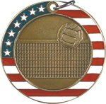 Volleyball - Stars & Stripes Medallion Volleyball Trophy Awards