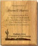 Genuine Walnut Plaque with Enraving Directly into Wood Walnut Plaques as low as $13.65