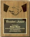 Genuine Walnut Plaque with 1/2 Brass Plate 1/2 Engraved Directly into Wood Walnut Plaques as low as $13.65