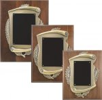 Genuine Walnut Plaque with Metal Scroll Relief Walnut Plaques as low as $13.65