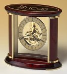 Skeleton Clock with Brass and Rosewood Piano Finish Wood Metal Accent Awards